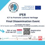 """Evento Finale di Disseminazione del progetto Erasmus+ """"IPER - ICT per la promozione del patrimonio culturale"""""""